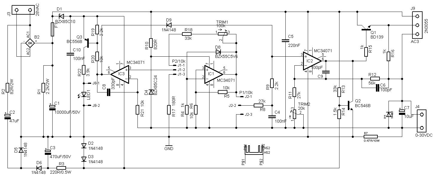30v 4a Adjustable Bench Power Supply