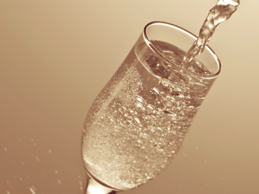 Pop Some Bubbly to Tone Your Skin