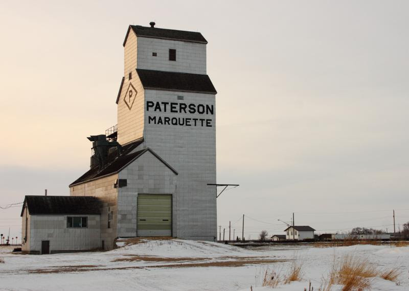 Paterson grain elevator at Marquette