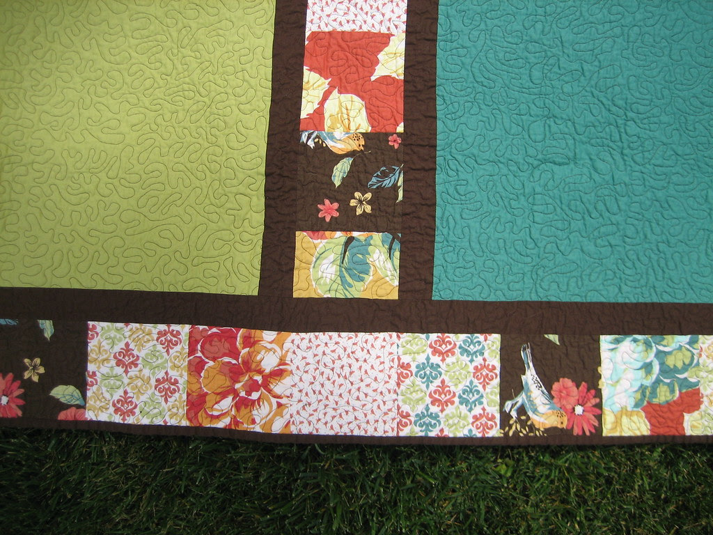 Birthday Quilt - back close up