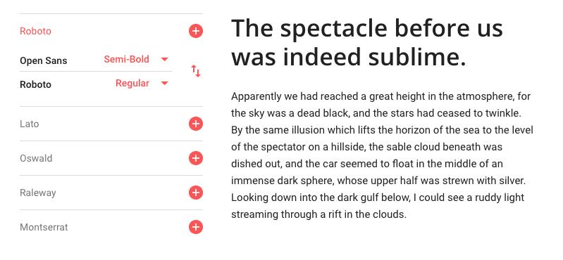 Open Sans and Roboto Font