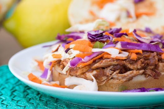 Pulled Chicken Sandwiches with Concord Grape BBQ Sauce