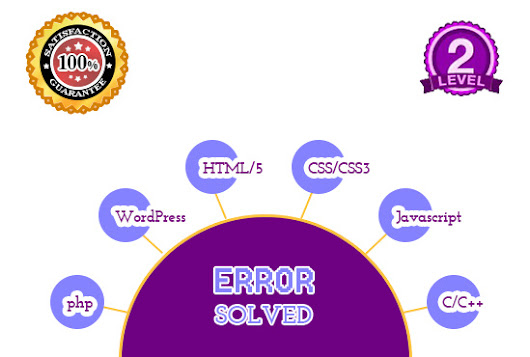 I will solve html css javascript wordpress c or cpp and php ERRORS