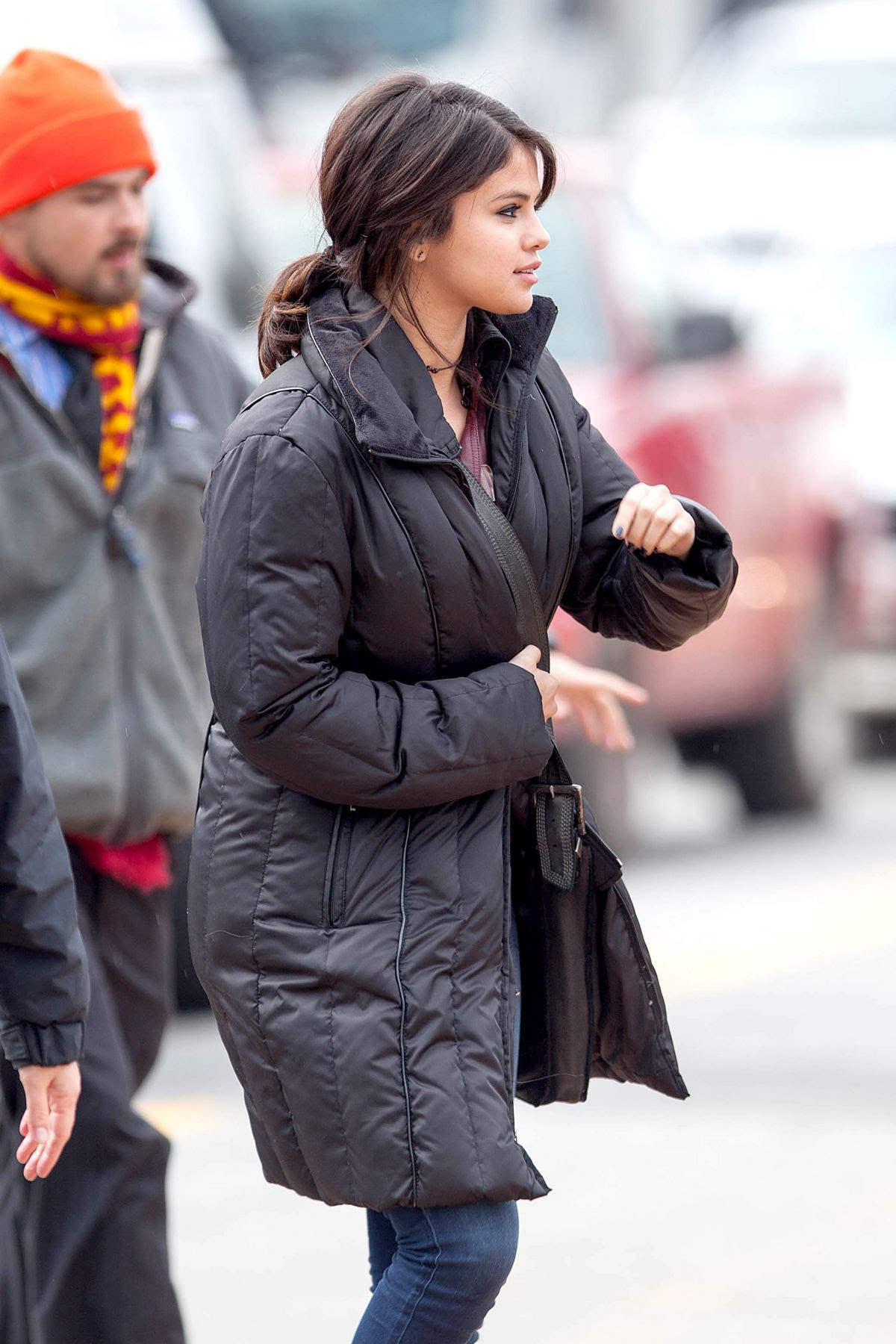 SELENA GOMEZ on the Set of The Revised Fundamentals of Caregiving in Cartersville