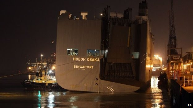 ship accident hoegh osaka