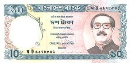 Bangladesh currency, earlier East Pakistan
