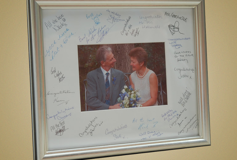 Signing Mount With Commemorative Photo We Frame It