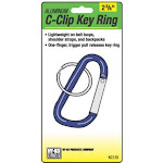 """Hy-Ko Key Ring C-Clip, 2.5"""", Assorted Colors"""