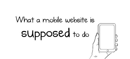 What a mobile website is SUPPOSED to do - The Oatmeal