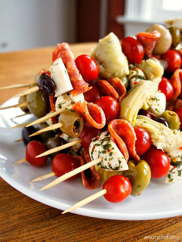 Antipasto Skewers | The Weary Chef