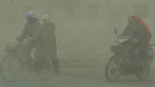 中国甘肃的沙尘暴