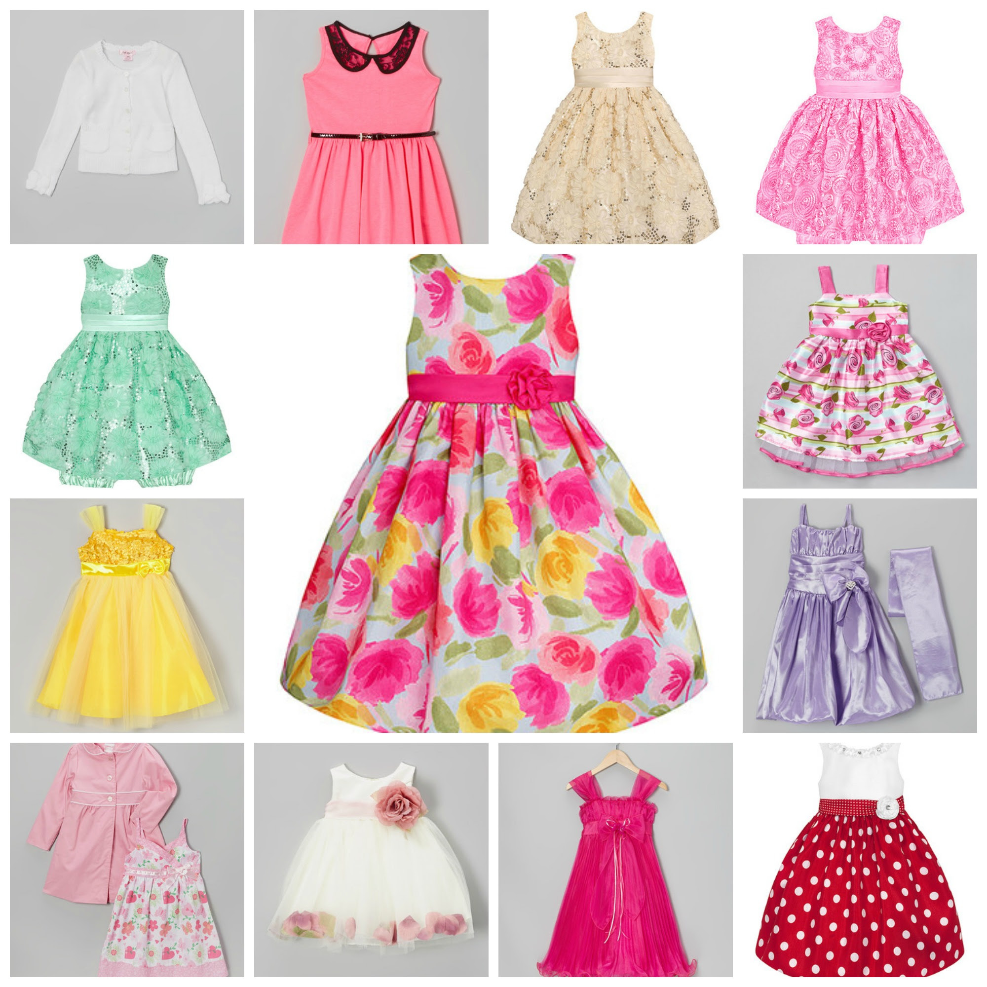 zulily darling girls' easter dresses as low as 1299