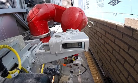 Bricklaying robot that can build walls six times faster than humans