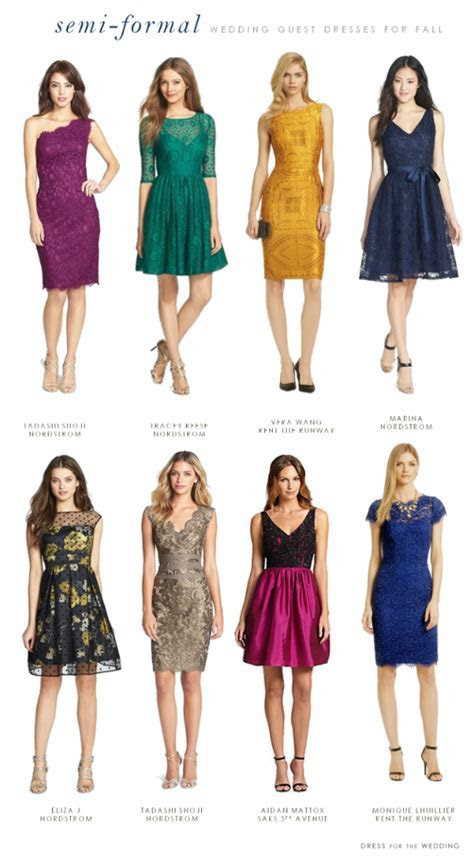 What to Wear to a Semi Formal Fall Wedding