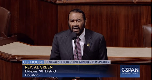 Dem. Rep. Al Green claims Trump 'does not have to commit a crime to be impeached' -- Video ⋆ Conservative Firing Line