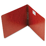 """Acco Pressboard Report Covers, Top Binding for Letter Size Sheets, 2"""" Capacity, Red"""