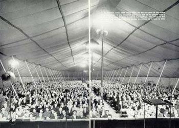 Tent revival meeting