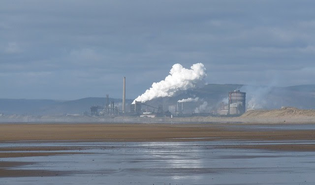 25578 - Port Talbot from Sker Point