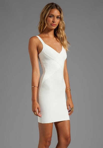 White bodycon turtleneck dress