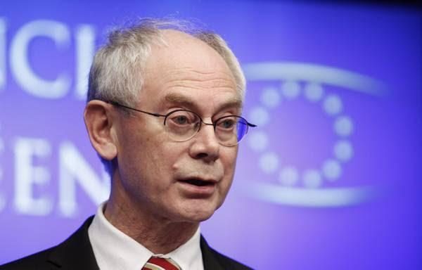 Il presidente permanente della Ue, Herman Van Rompuy