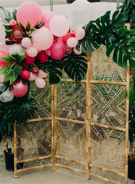 Tropical Bridal Shower in A Greenhouse   Inspired By This