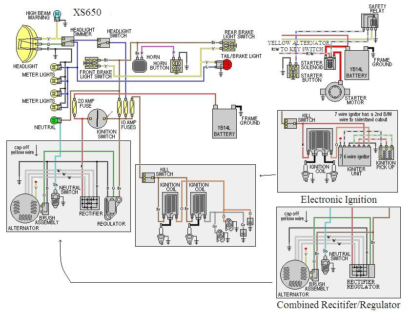 Yamaha Maxim 650 Chopper Wiring Diagram