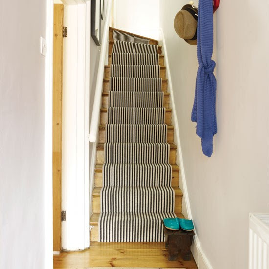 Neutral hallway with stair runner | Hallway | housetohome.