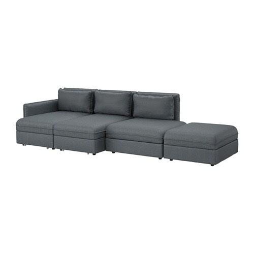VALLENTUNA 4-pers. sofa med seng - Hillared mørkegrå - IKEA