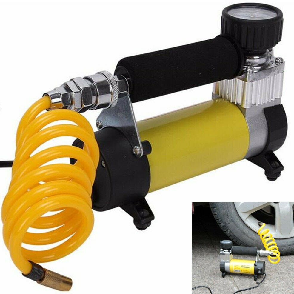 Car 12v Portable Electric Mini Air Compressor Inflatable Pump Tire Tyre Inflator Ebay