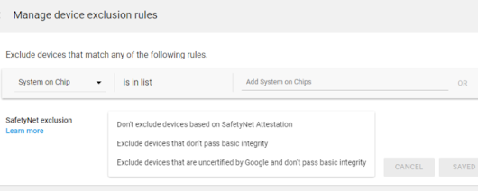 Netflix was just the start: Google Play Console lets developers exclude app availability for devices that don't pass SafetyNet