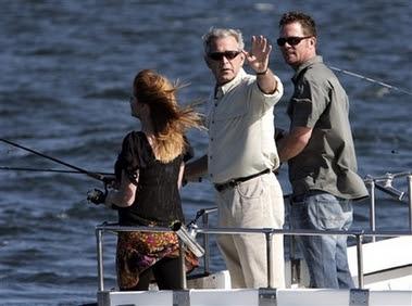 Bush Going Fishing