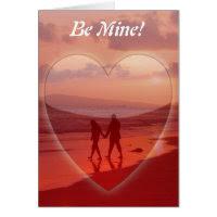 Couple on the Beach Valentine Greeting Card