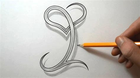 drawing  letter    heart combined art