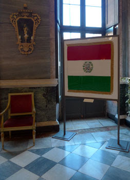 Il tricolore in Sala Marmi