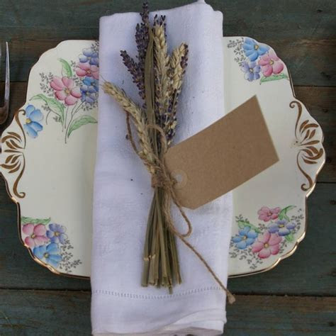 lavender & wheat napkin posy set of ten by the artisan