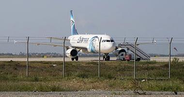 طائرة مصر للطيران المختطفة بمطار قبرص