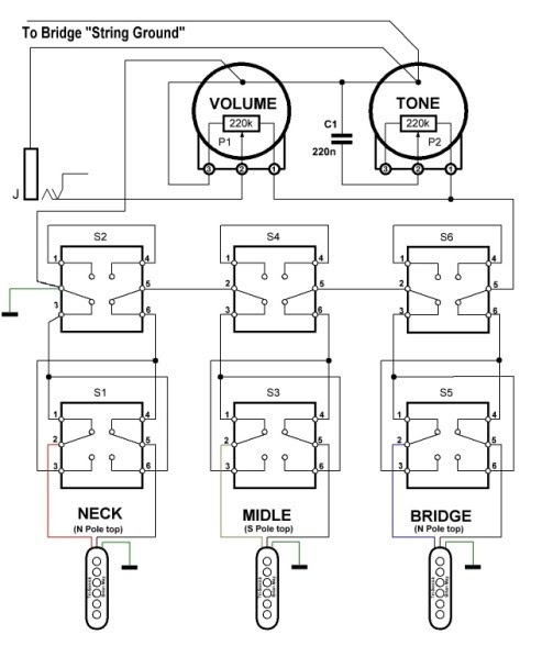 Aluminum Body Stratocaster Wiring Diagram