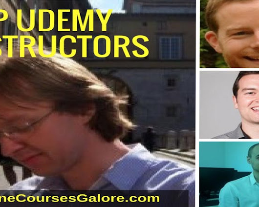 14 top Udemy instructors with 100,000 plus students enrolled in theri courses
