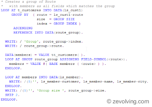 ABAP 740 - LOOP AT with GROUP BY