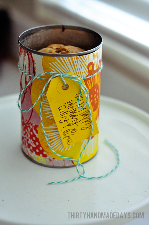 Teacher Appreciation: Bread in a can