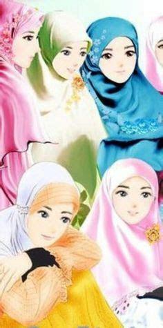 koleksi gambar kartun ana muslim  muslimah muslimah