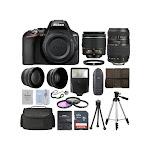 Nikon D3500 24.2 MP SLR - AF-P DX 18-55mm VR and 70-300mm Lenses