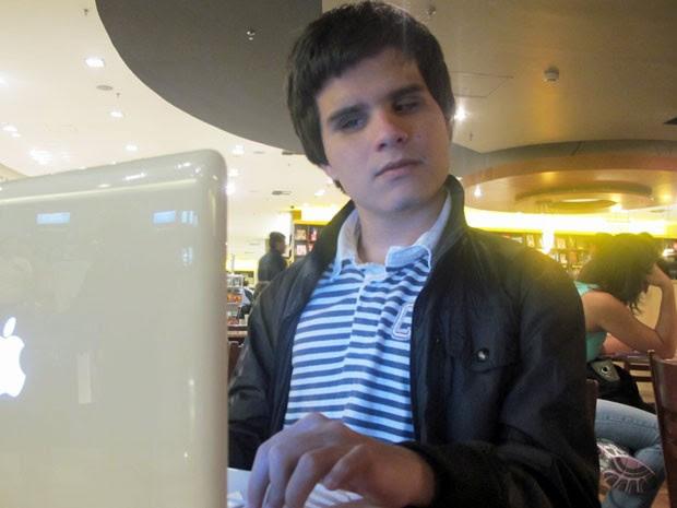 Maurício Almeida, de 18 anos, é estudante da Universidade de Michigan (Foto: Vanessa Fajardo/ G1)
