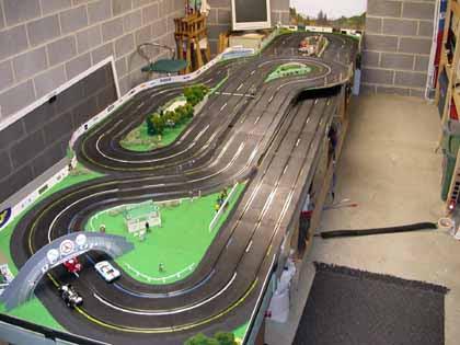 Slot track racing box