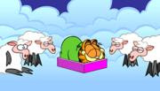 Garfield's Sheep Shot: garfield, cartoons, bambini, dormire