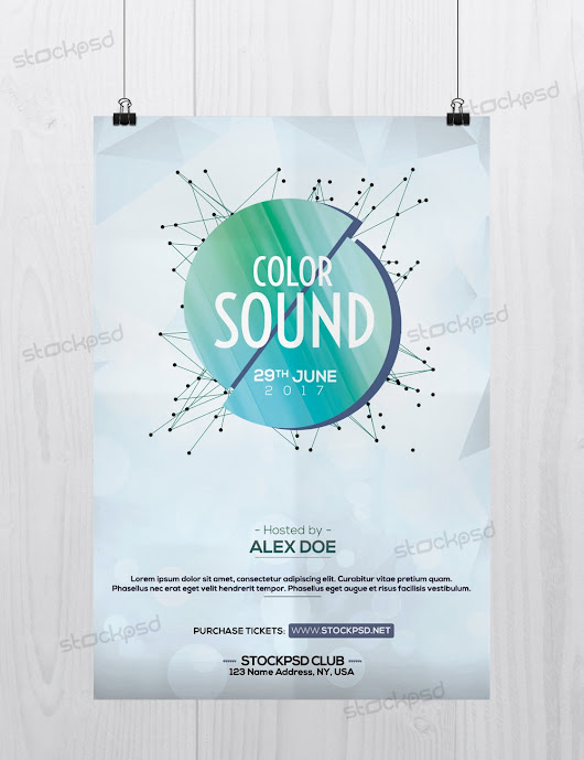 Color Sound - Free Minimal PSD Flyer Template - Stockpsd.net - Free PSD Flyers, Brochures and more