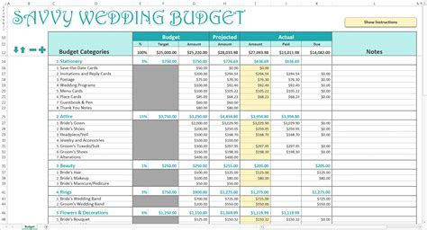 Planners: Best Wedding Budget Worksheet For Wedding