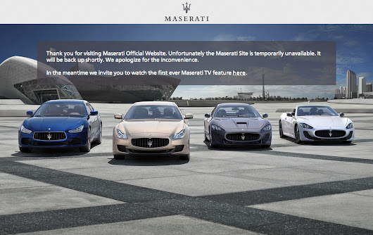 Maserati's Ghibli SuperBowl Ad Crashes Maserati Website