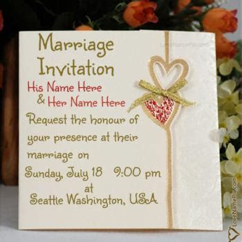 Write Name On Wedding Invitation Cards Online 2