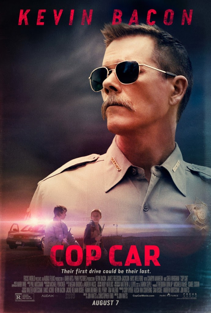 poster for Cop Car, starring Kevin Bacon
